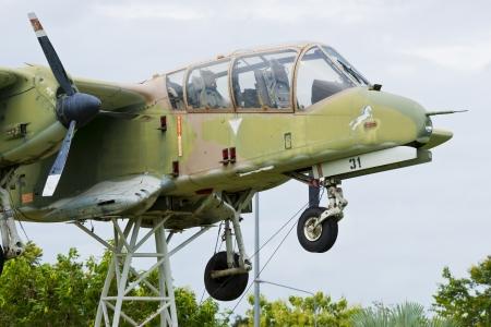 world war two: A World War Two P-40 airplane landing at an air show