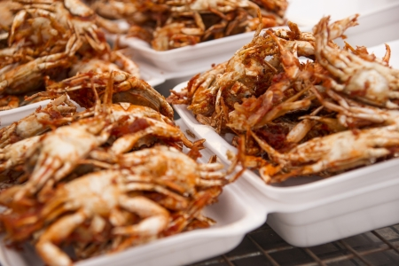 The Fried soft shell crab with garlic