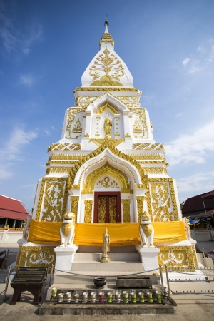 golden pagoda in Phra That Prasit,Nakhonphanom, Thailand