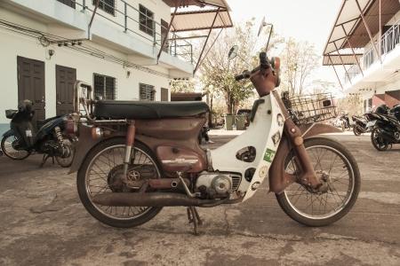 economic revival: Vintage motorcycle