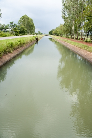 diversion: Water diversion canal Stock Photo