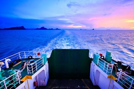 Ferry ship to Koh Samui Thailand photo
