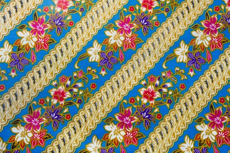 closeup pattern texture of general traditional thai style native handmade fabric weave photo