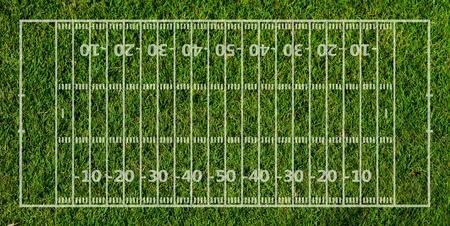 アメリカン フットボール フィールド フォーム緑の草のテクスチャ 写真素材