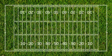 painted lines: american football field form green grass texture