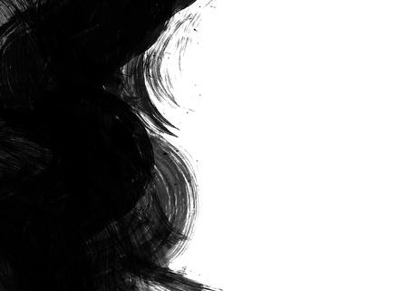 zwart wit tekening: Black Water kleur op oud papier textuur achtergrond Stockfoto