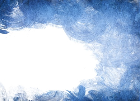 old paper watercolor blue painting on white background for your design