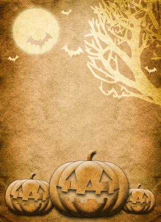 Halloween night festival background Stock Photo