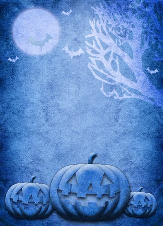 Halloween blue night festival background photo
