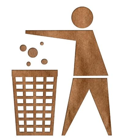 reciclar basura: Basura de reciclaje icono del arte de papel