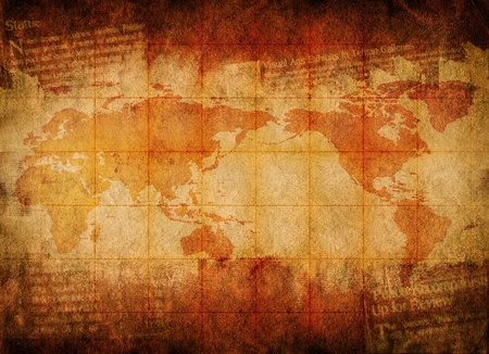 treasure map: World map on Grunge background for your design