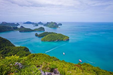 landscape bird eye view of angthong national marine park ko samui