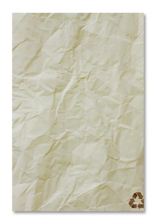 リサイクル紙の白い背景上のクローズ アップ 写真素材