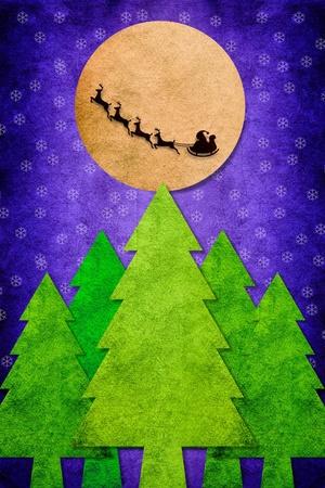 Christmas night on texture art photo