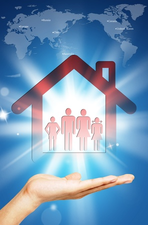 人間の手の家
