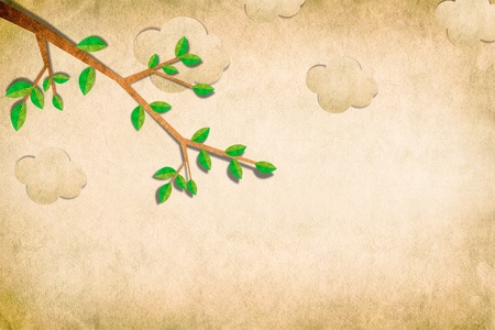 Nature recycled papercraft background