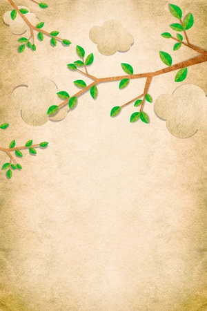 Nature recycled papercraft background photo