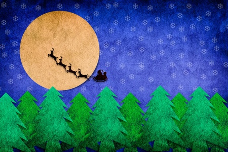 Christmas night dark on blue background texture art photo