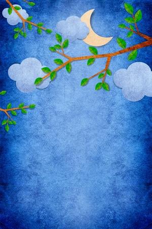Nature Night recycled papercraft background photo