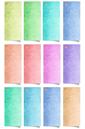 pink wall paper: recycle paper stick isolated on white background Stock Photo