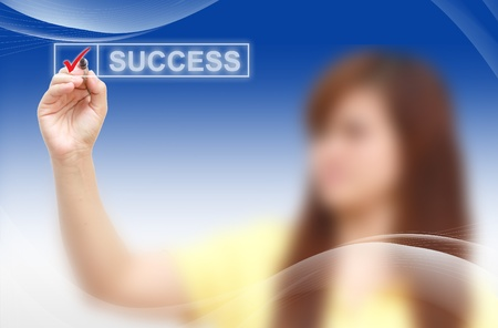 male hand checking success list Stock Photo - 11058779