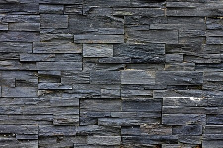New Slate Stone Wall - Background Texture photo