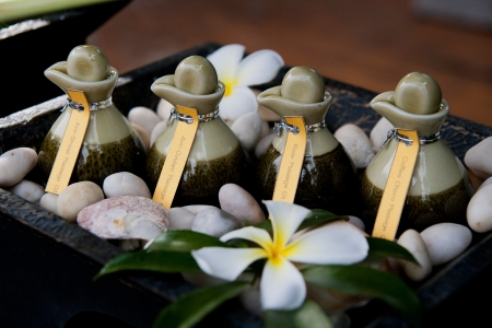 Spa massage setting with thai herbal in the hotel