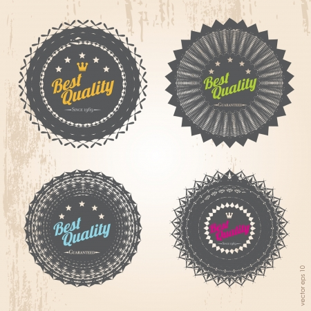 Retro badges  template vector format for your design Vector
