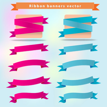 Ribbon banner vector format Vector