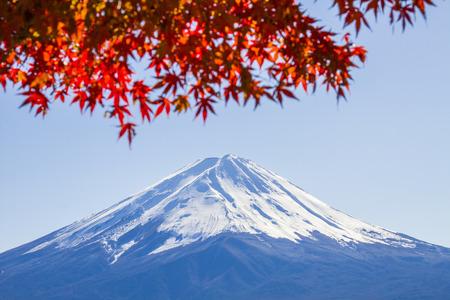 Close up Fuji Mountain in Japan photo