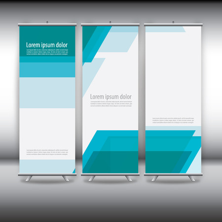 banner design: roll up template, abstract background