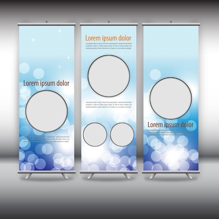 commercial sign: roll up template, abstract background