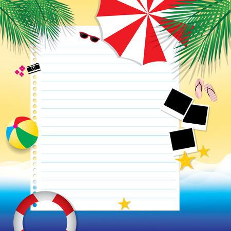 fond de texte: Blank page summertime voyage