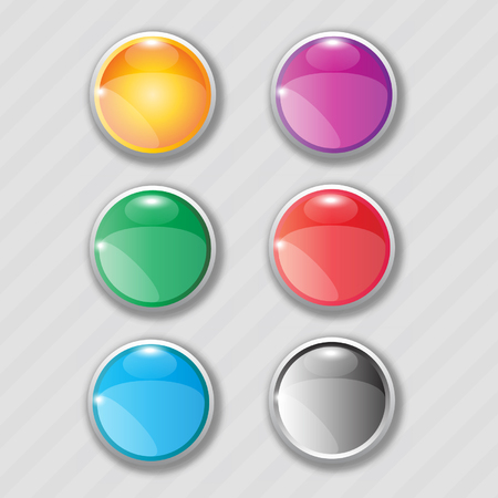 web buttons: Rounded web buttons