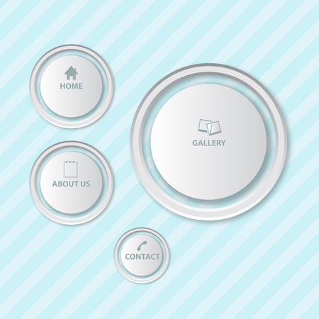 web buttons: Rounded web buttons vector format