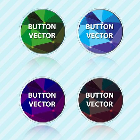 internet buttons: Polygon button vector format