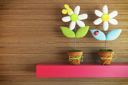 character traits: children flower on the red shelf