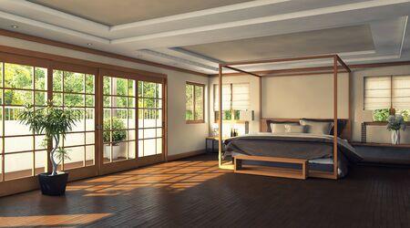 modern bedroom in Hawai house