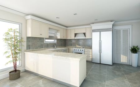 Bright Kitchen In Country House
