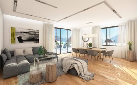 Small Apartment With A View To Mountains