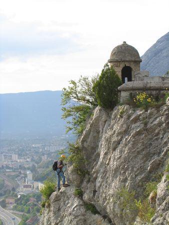 Rock Climber Above Grenoble France 3