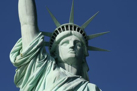 This is the Statue of Liberty Face Stock Photo