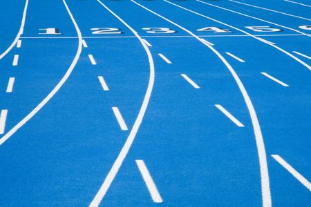 This is a Blue Race Track Starting Line