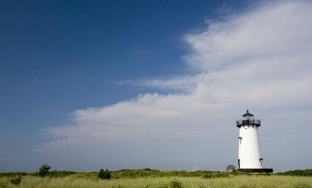 guard house: This is Edgar Harbor Light House Marthas Vineyard