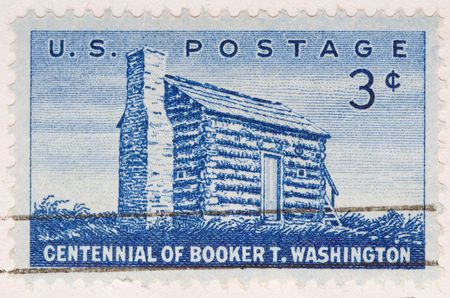 this is Vintage 1956 US Postage Stamp Booker T Washington