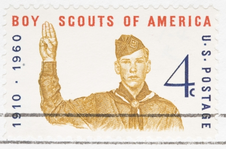 This is a Vintage 1960canceled US stamp Boy Scouts of America