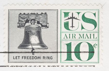 This is a Vintage 1960 canceled US stamp Let Freedom Ring photo