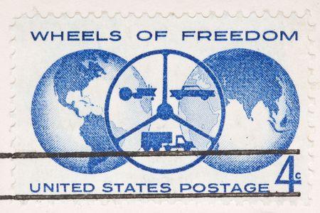이것은 빈티지 1960 취소 된 미국의 바퀴 자유의 바퀴