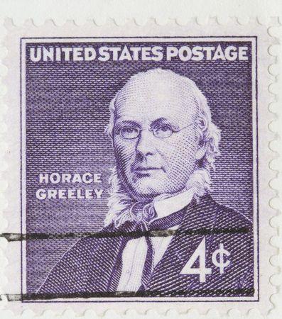 horace: Vintage 1960 Canceled US Postage Stamp