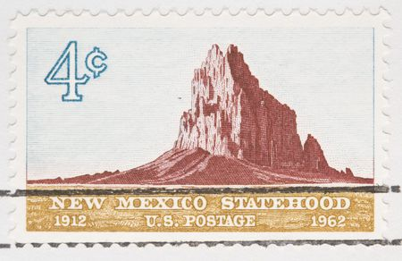 statehood:  This is a Vintage 1961 Canceled US Postage Stamp new Mexicon Statehood